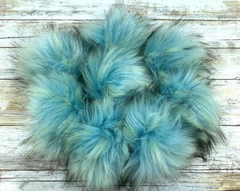 Powder Puff | Pom Pom | Snap on Pom Pom | Faux Fur Pompom
