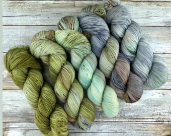 Earthy Fade Kit | CACTUS | Superwash Merino Wool | Five Skein Kit