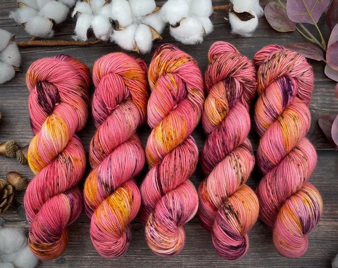 Featured listing image: 100% Merino SW Fingering Weight | Honeycrisp | Hand Dyed Yarn | Superwash wool