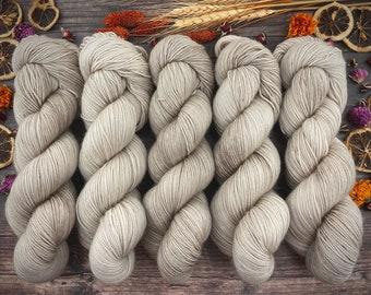 Biscotti Sock | 85/15 SW Merino/Wool Sock Weight| COCOA | Hand Dyed Yarn | Superwash wool