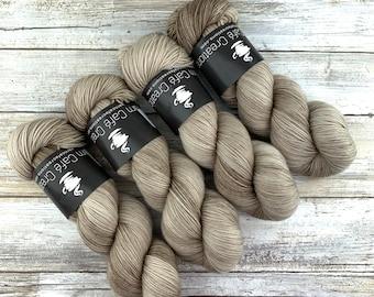 Sand | Hand Dyed Yarn | Superwash wool