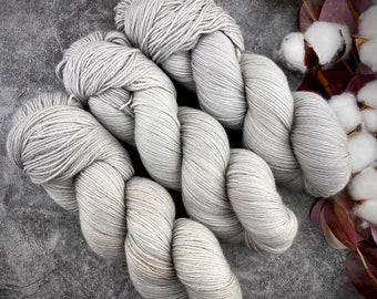Fingering Weight | Oatmeal | Hand Dyed Yarn | Non-Superwash Merino Wool