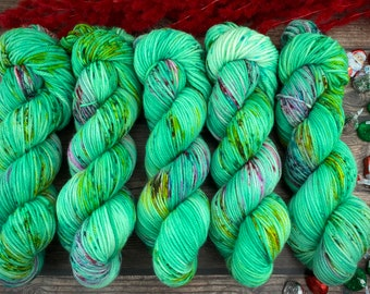 Mocha Worsted Weight | 100% SW Merino Wool | Christmas Tree Peeps | Christmas Candy Collection | Hand Dyed Yarn | Superwash Wool
