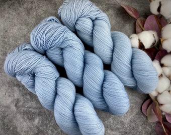 Fingering Weight | Slate | Hand Dyed Yarn | Non-Superwash Merino Wool