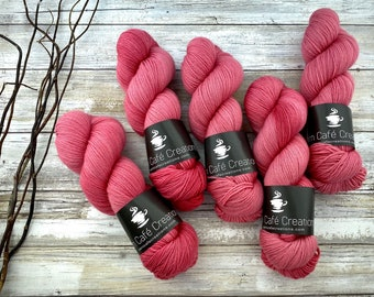Fingering Weight | Chili Pepper | Hand Dyed Yarn | Non-Superwash Merino Wool