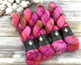 Silver Stellina | Strawberry Shortcake | Hand Dyed Yarn | Superwash wool