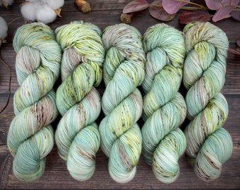 Espresso Fingering Weight   Prickly Pear   Hand Dyed Yarn   Superwash wool