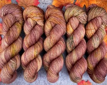 Biscotti DK Weight   85% SW Merino Wool/15 Nylon   Hot Cider Nog   Hand Dyed Yarn   Superwash