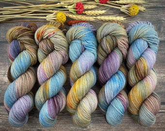 Fingering Weight | Boozy Hot Wassail | Hand Dyed Yarn | Non-Superwash Merino Wool