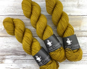 DK Weight | 100% SW Merino Wool | Dijon | Hand Dyed Yarn | Superwash wool