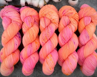 100% Merino SW Fingering Weight | Rainbow Falls | Hand Dyed Yarn | Superwash wool