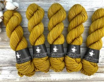 Americano DK Weight | 100% SW Merino Wool | Golden Honey | Hand Dyed Yarn