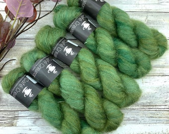 Basil | Mohair Silk | Hand Dyed Yarn