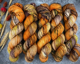 Americano DK Weight   100% SW Merino Wool   Butter Cookie   Hand Dyed Yarn   Superwash wool