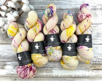 85/15 SW Merino/Wool Sock Weight| Lemon Meringue | Hand Dyed Yarn | Superwash wool