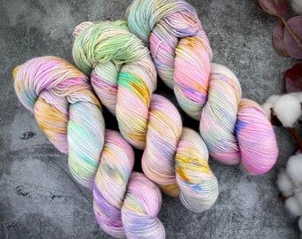 Fingering Weight | Angel Cake | Hand Dyed Yarn | Non-Superwash Merino Wool