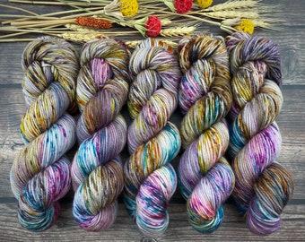 Biscotti DK Weight | 85% SW Merino Wool/15 Nylon | Boozy Hot Wassail | Hand Dyed Yarn | Superwash