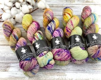 Polwarth Fingering Weight | Apple Dumplin | Hand Dyed Yarn | Superwash Polwarth