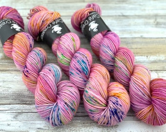 DK Weight | 100% SW Merino Wool | Unicorn | Hand Dyed Yarn | Superwash wool