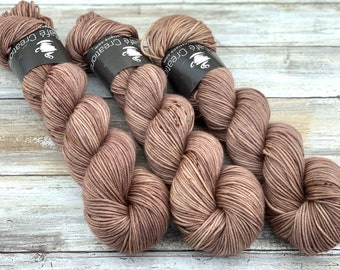 DK Weight | 100% SW Merino Wool | Sludge | Hand Dyed Yarn | Superwash wool