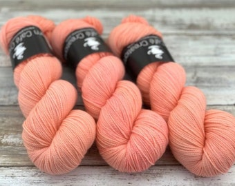 DK Weight | 100% SW Merino Wool | Grapefruit | Hand Dyed Yarn | Superwash wool