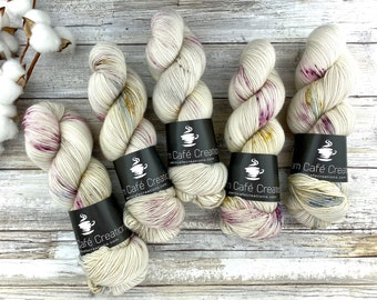 Worsted Weight | Dried Rose Petals | Hand Dyed Yarn | Superwash wool