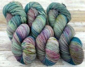 Worsted Weight | September Storm | Hand Dyed Yarn | Superwash wool
