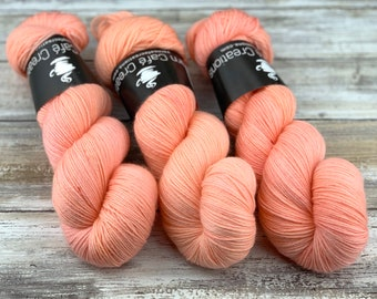 85/15 SW Merino/Wool Sock Weight| Grapefruit | Hand Dyed Yarn | Superwash wool