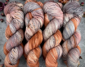 Espresso Fingering Weight | 100% SW Merino | HENNA | Hand Dyed Yarn | Earthy Collection