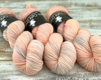 Worsted Weight | Peaches and Cream | Hand Dyed Yarn | Superwash wool