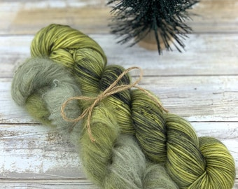 Cactus Fuzzy Winter Hat Kit | Hand Dyed Yarn |