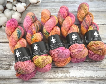 Fingering Weight | Orange Blossom | Hand Dyed Yarn | Non-Superwash Merino Wool