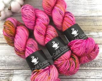 Veranda BFL DK Weight | 100% SW Blue-Faced Leicester Wool | Strawberry Shortcake | Hand Dyed Yarn | Superwash wool