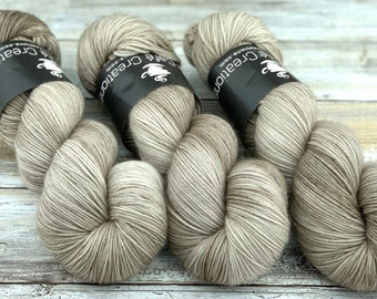 85/15 SW Merino/Wool Sock Weight| Sand | Hand Dyed Yarn | Superwash wool