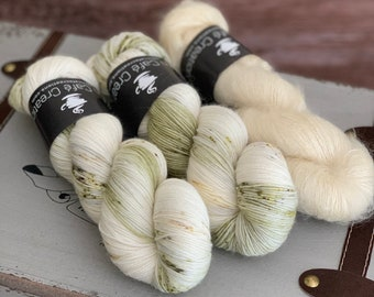 Hand-Dyed Yarn | Merino Wool and Kid Mohair and Silk | Birds of a Feather Kit | Timeless Glass