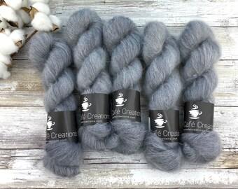 Pepper | Mohair Silk | Hand Dyed Yarn