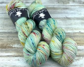 DK Weight Wool/Nylon Blend | Sea Foam | Hand Dyed Yarn | Superwash Wool