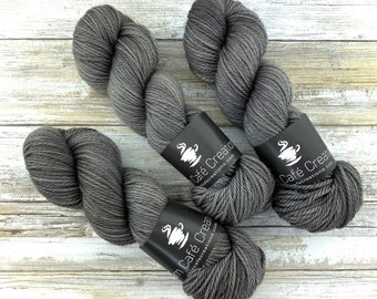 Worsted Weight | Coffee | Hand Dyed Yarn | Superwash wool