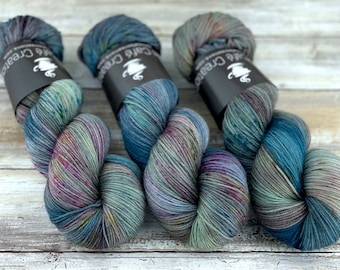 85/15 SW Merino/Wool Sock Weight| September Storm | Hand Dyed Yarn | Superwash wool