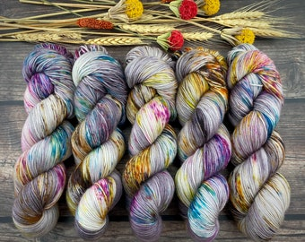 100% Merino SW Fingering Weight | Boozy Hot Wassail | Hand Dyed Yarn | Superwash wool