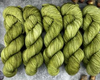 Biscotti Sock | 85/15 SW Merino/Wool Sock Weight| Cactus | Hand Dyed Yarn | Superwash wool