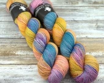 Silver Stellina | My Name Is June | Hand Dyed Yarn | Superwash wool