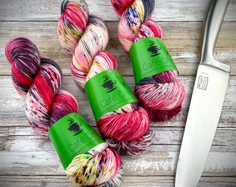 Polwarth Fingering Weight | Jigsaw | Hand Dyed Yarn | Superwash Polwarth