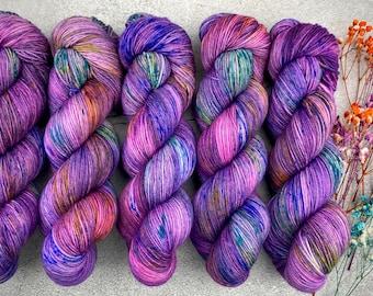Biscotti Sock   85/15 SW Merino/Wool Sock Weight  Pinkie Sense   Pinkie Pie Collection   Hand Dyed Yarn   Superwash wool