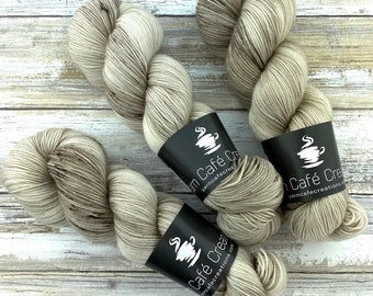Polwarth Fingering Weight | Sand | Hand Dyed Yarn | Superwash Polwarth