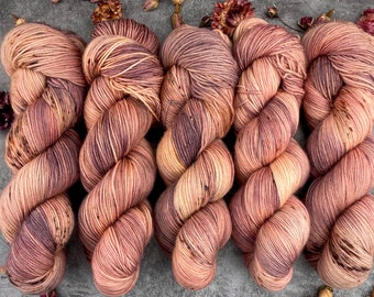 Espresso Fingering Weight   100% SW Merino   PLATEAU   Hand Dyed Yarn   Earthy Collection