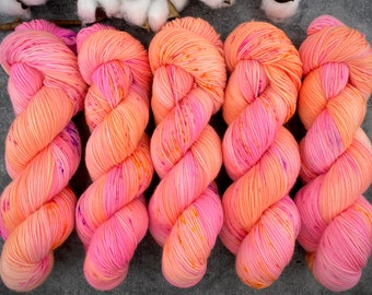 Biscotti Sock | 85/15 SW Merino/Wool Sock Weight| Rainbow Falls | Hand Dyed Yarn | Superwash wool