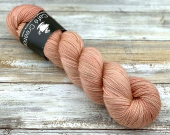 Gold Stellina   Silk   Hand Dyed Yarn   Superwash wool