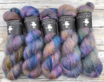 Electric Pony | Hand Dyed Yarn | Mohair Silk