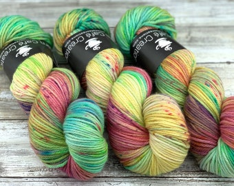 Worsted Weight | Garden Party | Hand Dyed Yarn | Superwash wool